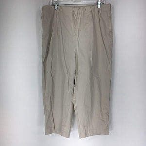Susan Graver 1X Beige Capri Dress Pants